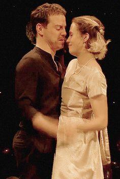 "hamlet andrew scott jessica brown findlay as Hamlet and Ophelia on ""Hamlet"" hamlet x ophelia gif"