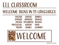 Multilingual welcome posters for classroom decor polka dot theme esol welcome signs for the classroom 15 languages fandeluxe Images