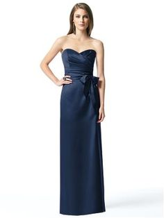 Cute. Long version. Navy Bridesmaid dress