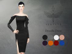 Drusilla Dress by Sentate at TSR via Sims 4 Updates