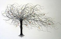metal tree wall art - Google Search