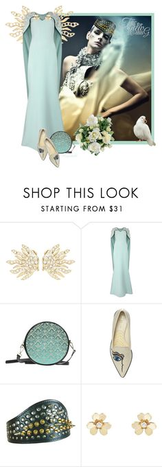 """Time for Wedding 🦋💐🦋"" by ragnh-mjos ❤ liked on Polyvore featuring Oscar de la Renta, Safiyaa, Nicholas Kirkwood, Comme des Garçons, Van Cleef & Arpels and Guide London"