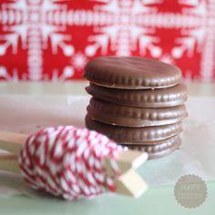 Homemade thin mint cookies...yum
