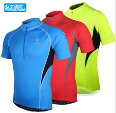 ARSUXEO Professional Outdoor Sports Clothing Men's Short Sleeve Cycling Jersey MTB Road Bike Bicycle Running Sportswear