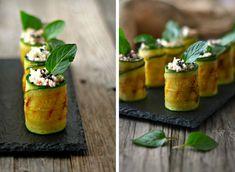 Zucchini Rolls with Cottage Cheese & Tuna