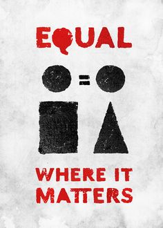 Poster for tomorrow 2012: Gender equality now! by Lucija Šilić, via Behance