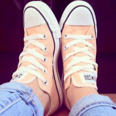 These peach-colored Converse are great!!