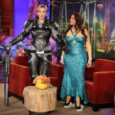 Jane Lynch Dressed As Her Space Marine Character from Wreck-It Ralph For Halloween. I did not post this originally. I have to say that this is Disney Cosplay as it should be LOL.