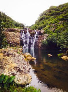 7 cascades waterfalls  #Mauritius