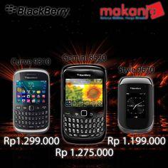 Semua tipe Blackberry bisa Anda dapatkan disini! Harga terjangkau & Bisa bayar dirumah! (Wil.Jakarta) Klik-> http://makanja.com/11-smart-phone#/manufacturer-blackberry