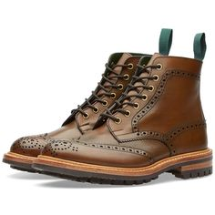 One of the longest established shoemakers in England, Tricker's has established an outstanding reputation for manufacturing quality and as the maker of choice for heavy country boots – sworn by comfort, durability and practicality of waterproof country boots. Built to the same exact standards, the Stow boot embodies living and walking heritage with its heavy brogue wingtip, seven eyelet detailing to the premium leather uppers, finished with a leather lining for a comfortable step and a…