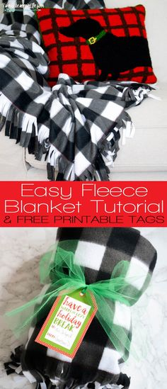 Easy Sew Blanket and