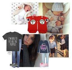 """""""We took the twins home"""" by mad-die-hatter ❤ liked on Polyvore featuring La Perla, Journee Collection, Paige Denim, Keds, The Children's Place and Vans"""