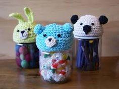 frascos decorados con crochet - Buscar con Google
