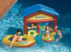 Boat House Inflatable Swimming Pool Float with Boats pool toys