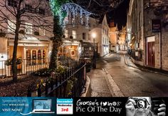 There's a cold wind blowing through Le Pollet tonight. Time to seek sanctuary somewhere warm & cosy! #LoveGuernsey  http://chrisgeorgephotography.dphoto.com/#/album/cbc2cr/photo/28227997  Picture Ref: 03_12_14 — at St. Peter Port, Guernsey, Channel Islands.