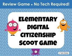 Elementary Digital Citizenship Scoot Game