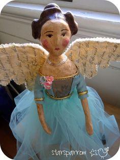 pretty doll paper mache