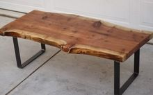 Unfinished wood coffee table - The raw wood furniture are those that you can buy without any termination. They are also known as natural wood furniture. Natural Wood Coffee Table, Reclaimed Wood Coffee Table, Rustic Coffee Tables, Diy Coffee Table, Reclaimed Wood Furniture, Salvaged Wood, Wood Slab Table, Cedar Table, Wooden Tables