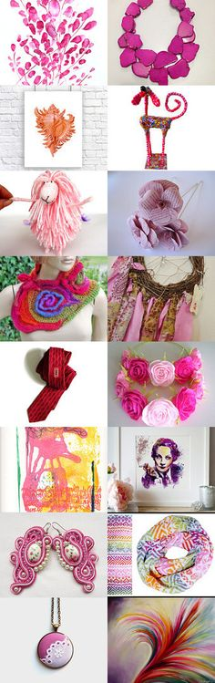 My love treasury in PINK by Sunny Petcharee on Etsy--Pinned with TreasuryPin.com