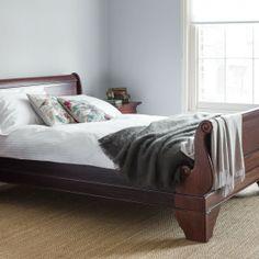 Geneva mahogany sleigh bed - king