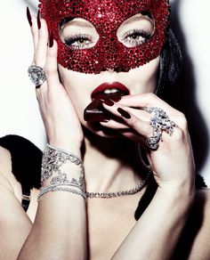 Simon Emmett...love the red blinged out mask and jewelry...