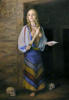 Definitely Ariadne with her string to guide Theseus through the Labyrinth, but doubtful she was a BLONDE!!