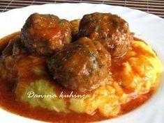 Danina kuhinja: Ćufte u paradajz sosu - My site Fun Baking Recipes, Meat Recipes, Chicken Recipes, Dinner Recipes, Cooking Recipes, Healthy Recipes, Yummy Recipes, Good Food, Yummy Food