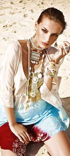 Sophie Kyron Bohemian Jewelry - Not so much on the skirt.  I think you can guess why.