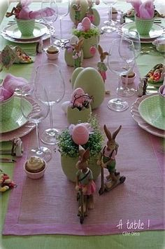 Adorable table!  Love the rabbits on scooters!