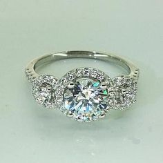NEW - Contemporary Trilogy Diamond Engagement Ring £65