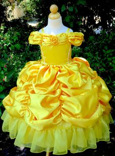 Princess Belle ball gown costume by CNLChildrensApparel on Etsy