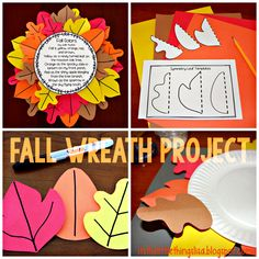 Fun fall wreath and poetry project