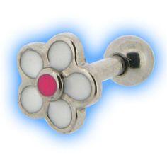 Dainty Daisy Ear Stud Ladybird for Tragus Helix Piercings