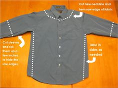 refashion mens shirts | Make: Men's Shirt Refashion