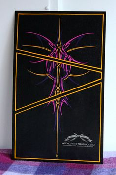 Pinstriping panel