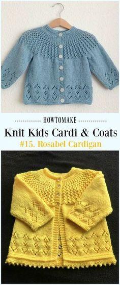 Rosabel Cardigan Free Knitting Pattern - #Knit Kids #Cardigan Sweater Free Patterns