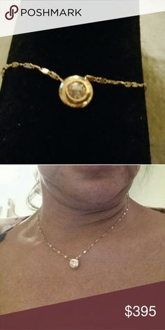 18k gold diamond pendant Sell pendant only, diamond size is about  .25.,  marked  18k and .25 for diamond size. Accessories
