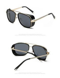 4f003588ba1349 Fashion Vintage Square Sunglasses Women Black Retro Famous Luxury Brand  Designer Sunglasses Men High Quality Driving Goggles. GafasMarca De ...