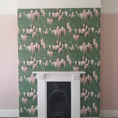 Customer Rooms and Inspiration Woodchip and Magnolia – Woodchip & Magnolia Green Home Decor, Green Wallpaper, Magnolia, Rooms, Creative, Inspiration, Image, Instagram, Design