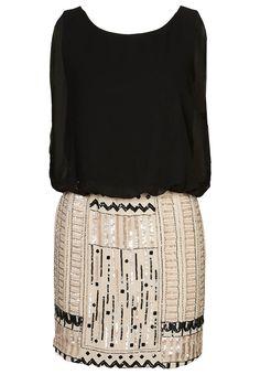 SHARON - Vestido de cóctel - negro