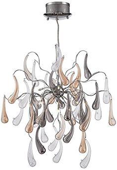 """Possini Euro Fabrizio 22"""" Wide Contemporary Glass Pendant Possini Euro Design http://www.amazon.com/dp/B00KOQ3NRM/ref=cm_sw_r_pi_dp_lgQmwb0W8NAJ5"""
