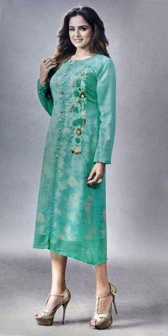 Marvelous Blue Georgette Kurti.