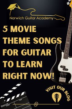 I thought this list of 5 movie songs for guitar would be great fun to write. There's always a lot of nostalgia when listening to movie music. There are of course a lot more great movie songs for the guitar than this little list of 5, but I'm sure I'll write a few more yet (Lethal Weapon needs to get some recognition of course!) But for now, enjoy these top movie guitar song choices! . . Follow for more free & fun guitar lessons to help you learn! . #guitarlesson #guitarsong #guitarmusic Guitar Songs For Beginners, Guitar Chords Beginner, Easy Guitar Songs, Theme Tunes, Theme Song, All Songs, Movie Songs, Fortunate Son, James Bond Theme