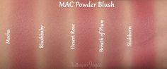 Mac Blush Palette Mocha Desert Rose Dupe Swatch Comparison