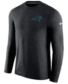 Nike Men's Carolina Panthers Coaches Long Sleeve T-Shirt - Black XXL