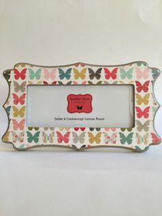 barber cosmetology license frame in butterfly print fits 8 12 x 3 58 business certification