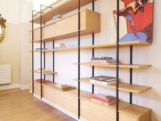 Wall Shelving Units, Wall Shelves, Built In Storage, Storage Units, Mid Century Wall Unit, Iron, The Unit, Home Decor, Houses