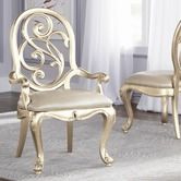 Found it at Wayfair - Jessica Mcclintock Splat Back Arm Chair with Silver Leaf