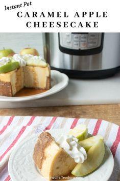 Instant Pot Caramel Apple Cheesecake #instantpot #instantpotrecipes #recipes #dessertrecipes #desserts #cheesecakereceipe #recipesforip #iprecipes #cheesecake